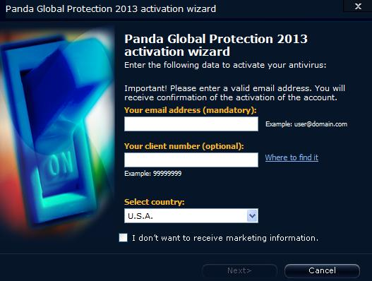 Activation wizard 2013