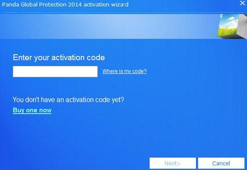 Enter Activation Code Panda 2014
