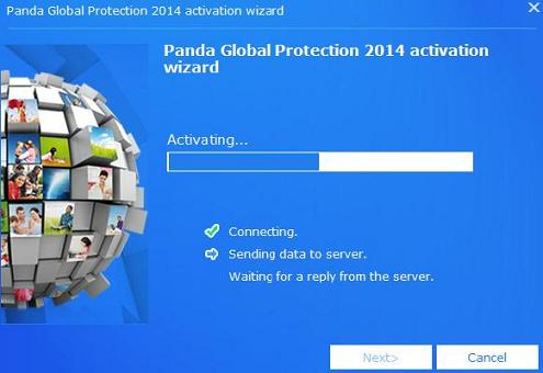 Panda 2014 Activation wizard