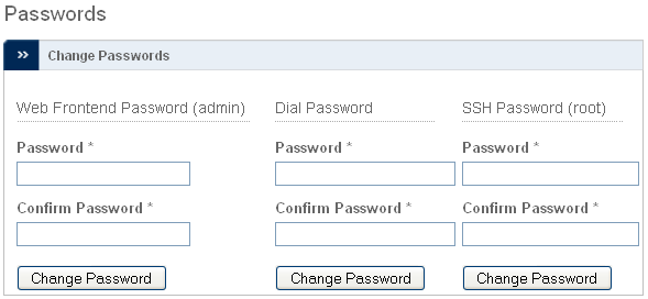 System - Passwords - Change Passwords