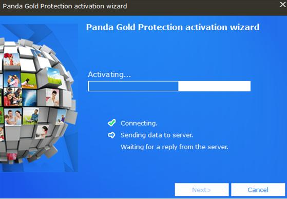 Panda Gold Protection Activation wizard