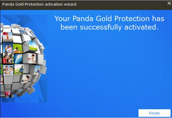 Panda Gold Protection Activation finished