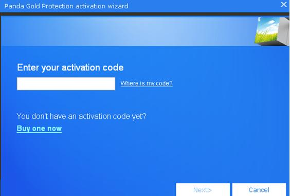 Enter Activation Code Panda Gold Protection
