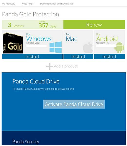 Activate Panda Cloud Drive