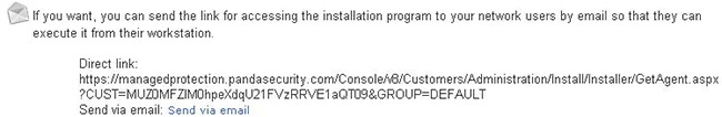 Installation Program via email