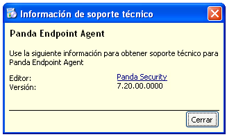 Panda EndPoint Agent version